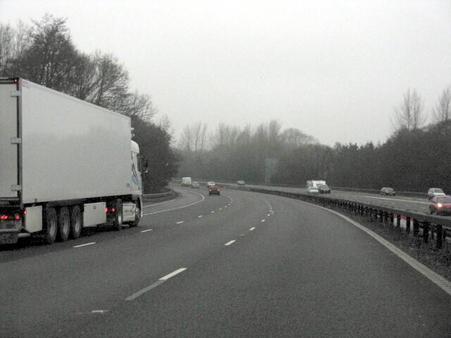 M6 Motorway - Big Bend North Of Junction 15
