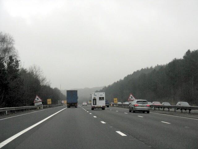 M6 Motorway At Walton's Wood