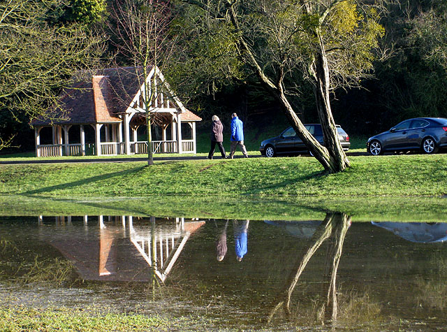 Bandstand reflected