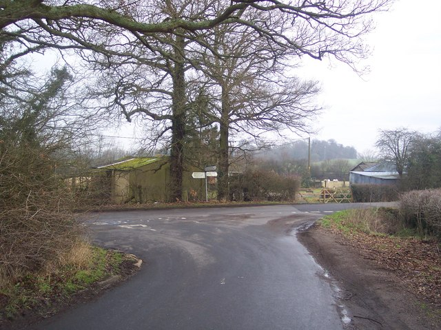 Road junction on Etchden Road