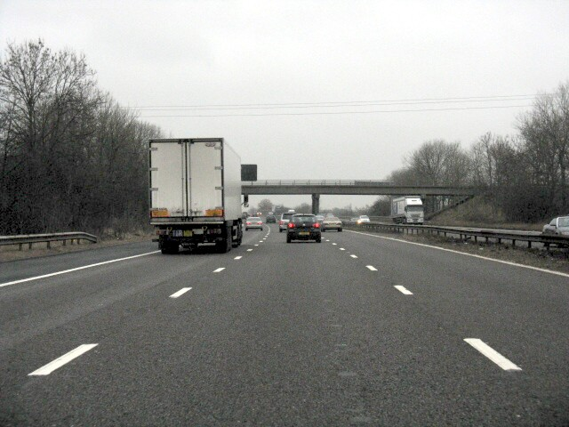 M6  Motorway At Day Green Bridge