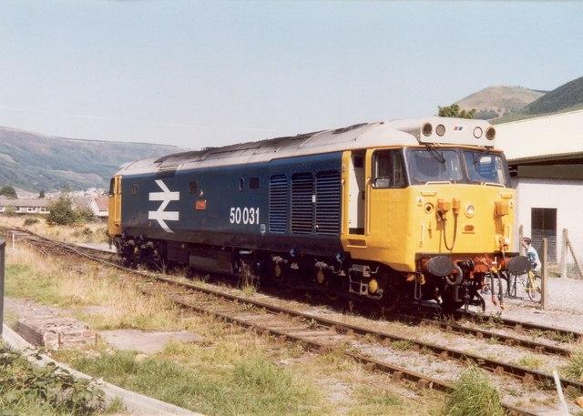 Class 50 at Treherbert