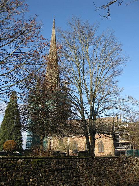 Winter view of St Mary's Church from Church Street