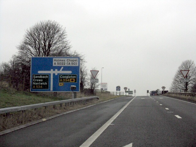 M6 Motorway - Junction 17 Northbound Slip Road