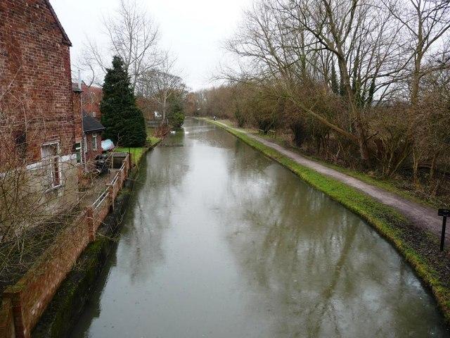 Erewash Canal, Looking northwards, from Mill Lane bridge