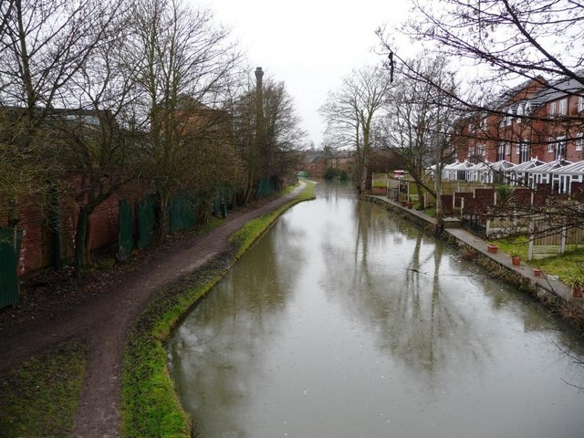Erewash Canal, looking southwards, from Mill Lane bridge