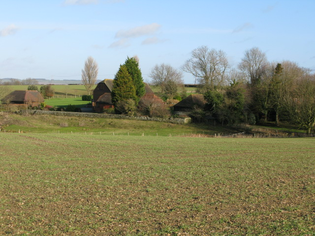Upper Park Farm from the B2067 Roman road