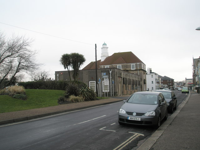Looking from Clarence Road towards the town hall