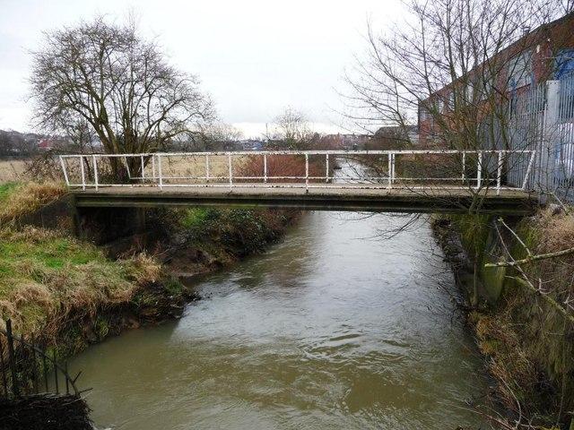 River Erewash, looking downstream, from footbridge