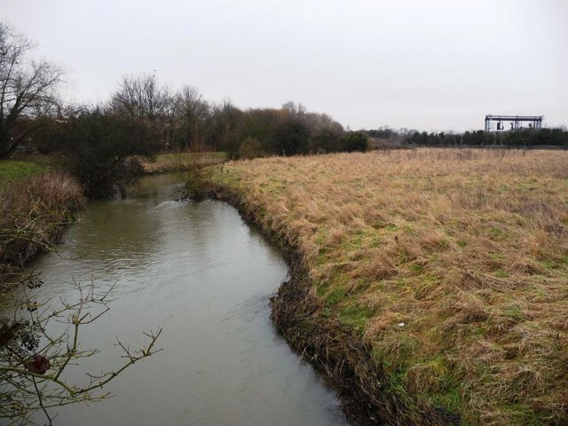 River Erewash, looking upstream, from footbridge