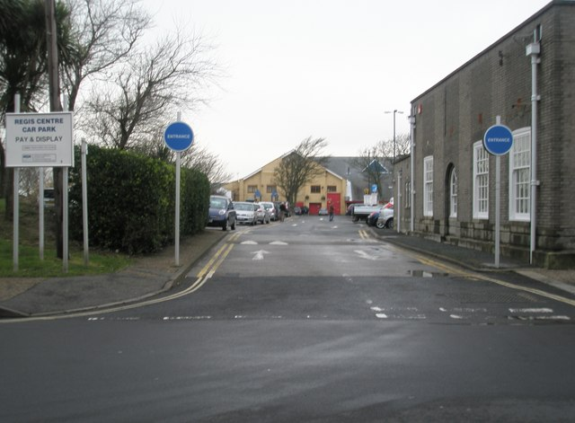 Looking from Clarence Road into The Regis Centre car park