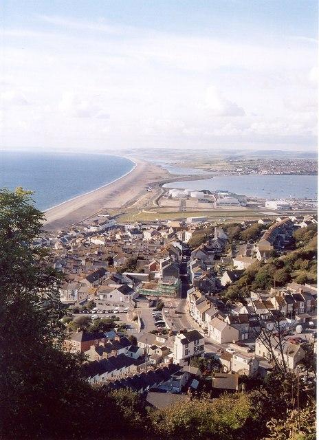 View towards Chesil Beach