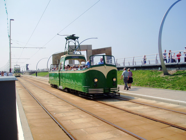 Tram at South Shore, Blackpool
