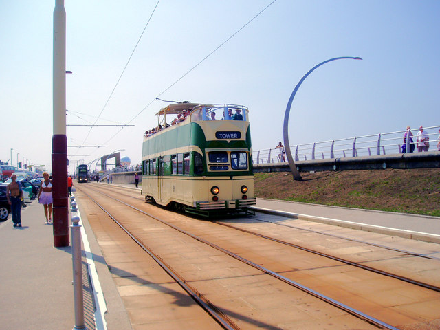 Tram at Blackpool, South Shore