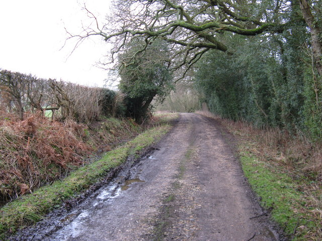 Footpath and farm track to Potlane Farm