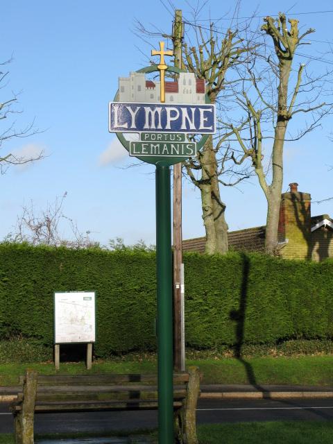 'Portus Lemanis' Lympne village sign