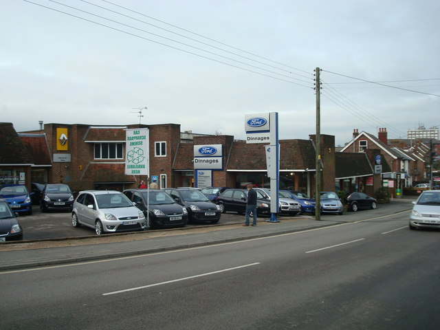Dinnages car dealership.Haywards Heath
