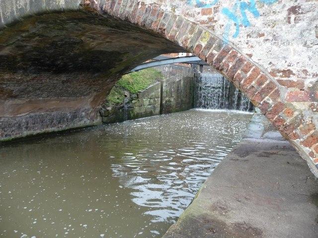 The low arch of Lock Lane bridge at Sandiacre Lock