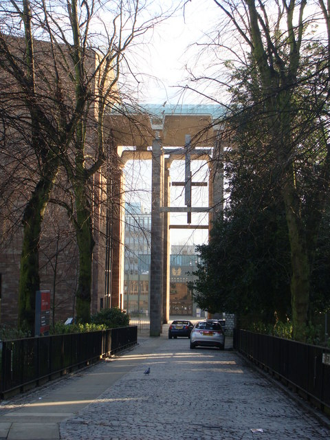Approaching Coventry Cathedral