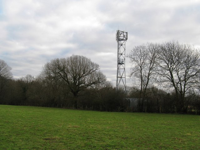 Communications mast on the Sussex Border Path