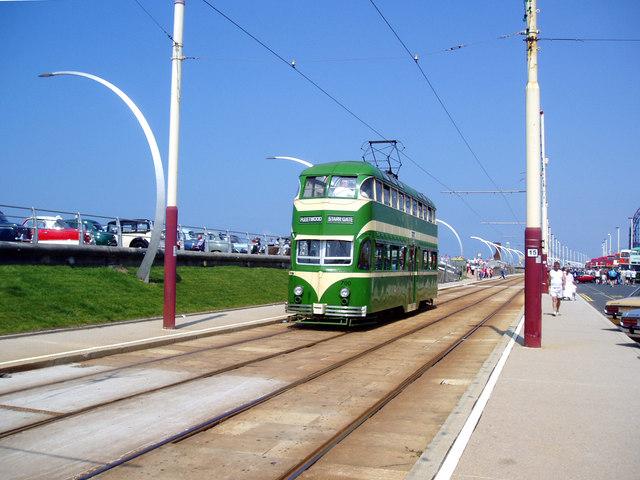 Tram at Blackpool, South Shore