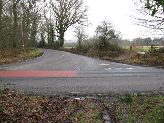T- junction between the B2131 Rodgate Lane and the A283