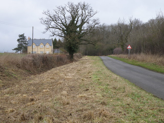 The road from Deene to Spanhoe airfield