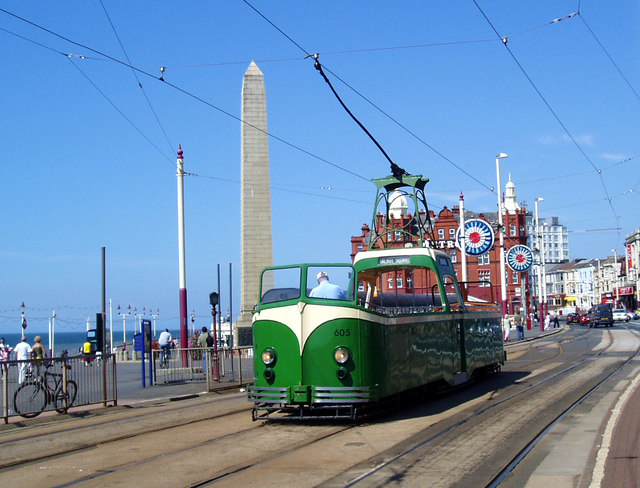Tram at Talbot Square, Blackpool