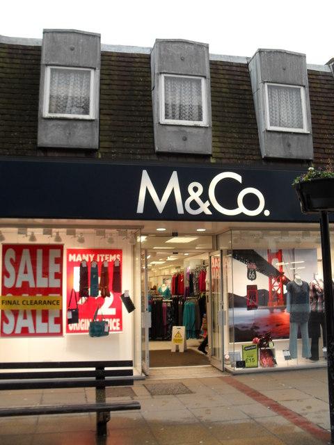 M & Co in London Road