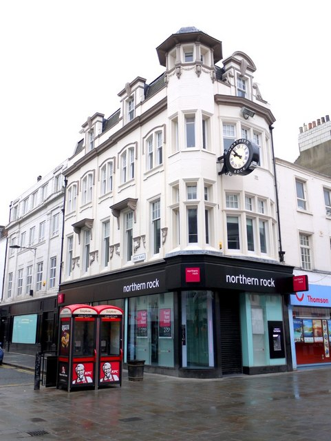 Northern Rock Building Society, corner of Northumberland Street and Ridley Place