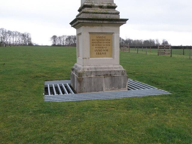 Obelisk base at Deene