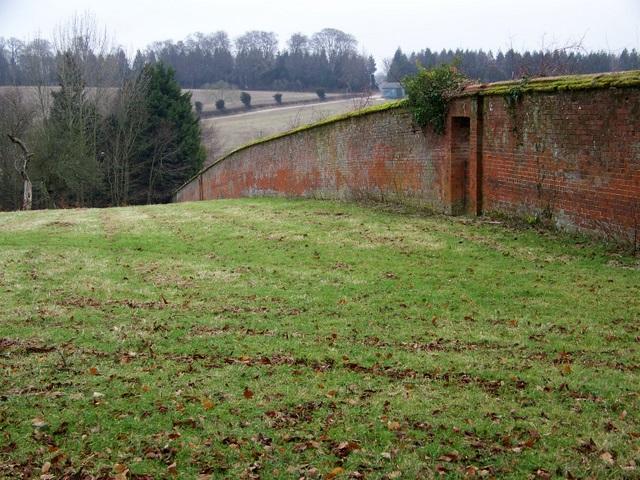 Walled garden near Queenwood Farm