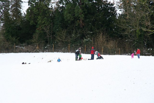 Sledging in the moat