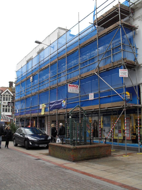 Scaffolding on a building in London Road