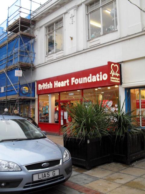 Charity shop in London Road