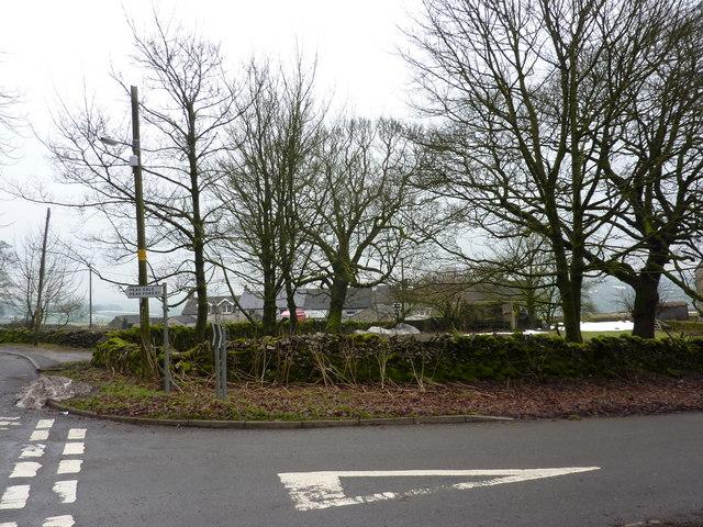 Road junction at Hargatewall