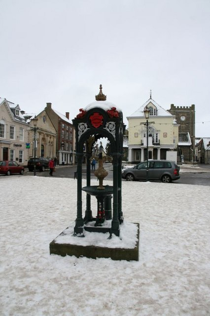 Drinking fountain in the snow