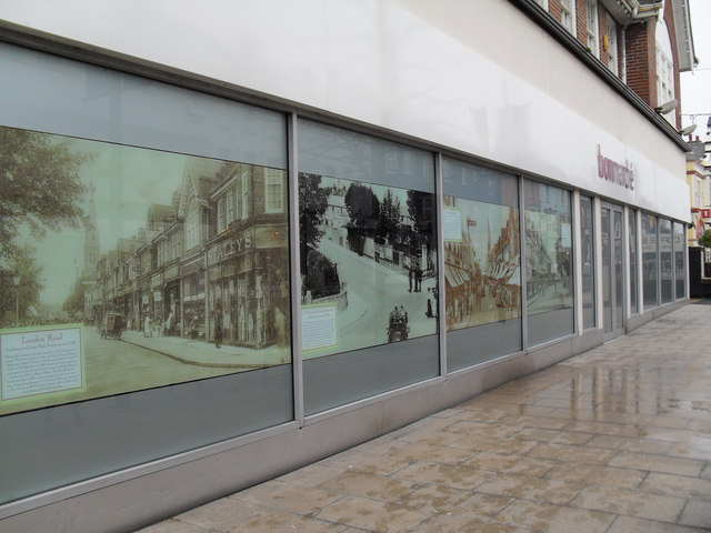 Historical montage at bonmarché  in the High Street