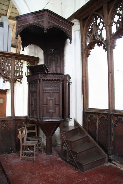 All Saints' pulpit