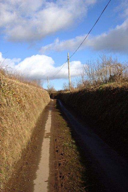 Lane between Hunts Cross and Shearlangstone