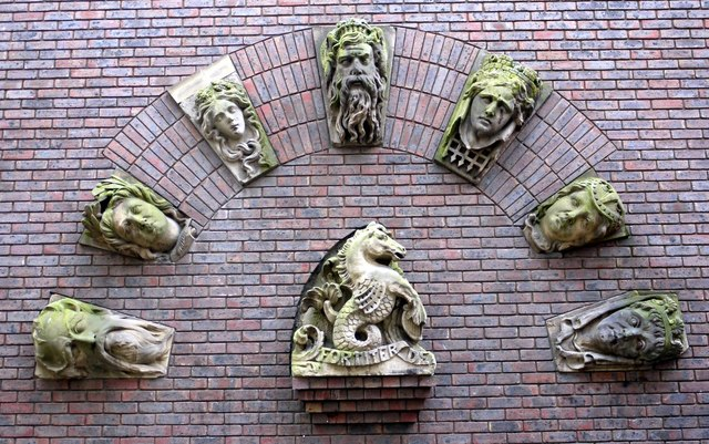 Carved heads, Prudhoe Chare