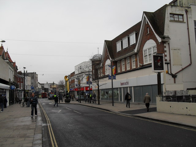 A dull January day in the High Street