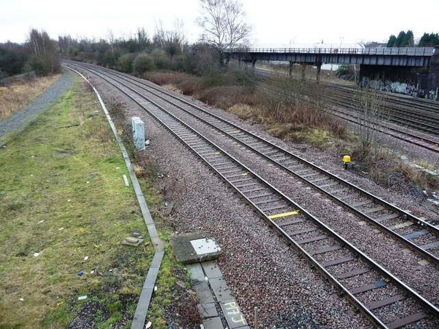 Railway tracks from south-east side of footbridge