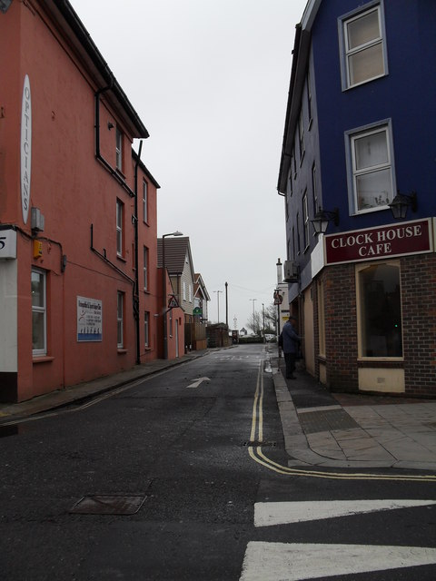 Looking from the High Street into Clock Walk