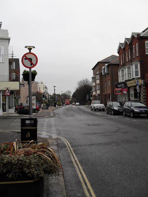 Approaching the junction of  Sudley Road and the High Street