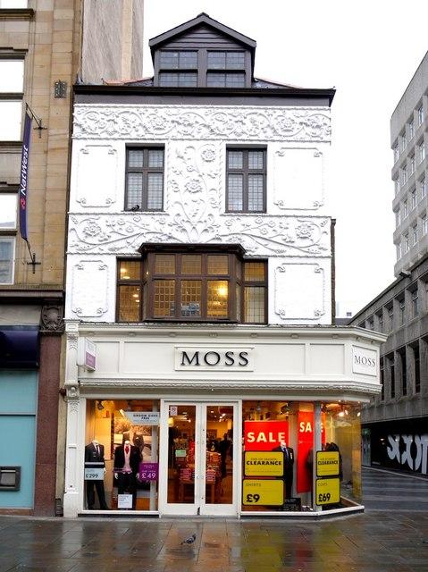 Moss Bros. shop, Northumberland Street