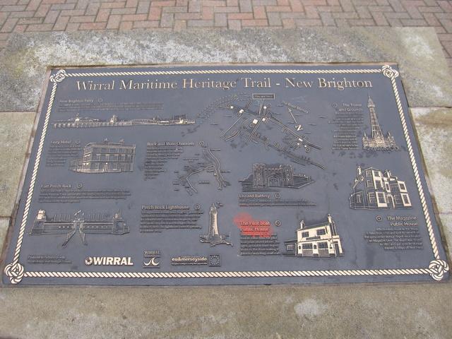 Maritime Heritage Trail Plaque at New Brighton