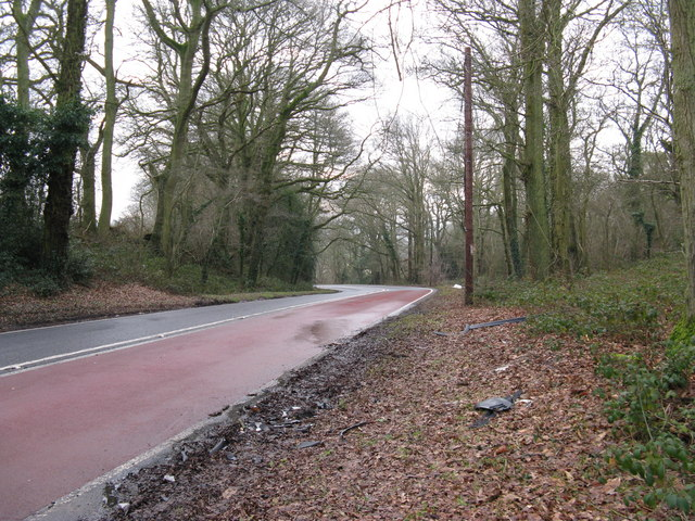 Debris by the A 283 southbound