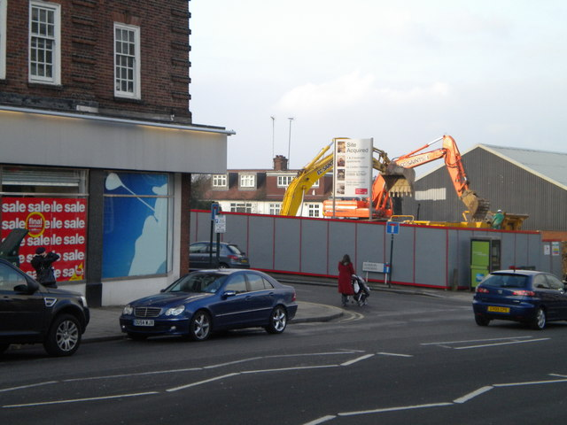 Construction site, Finchley Road NW11