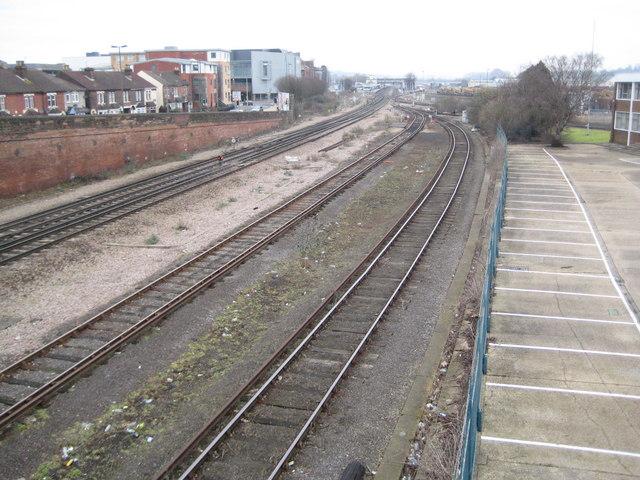 Eastleigh: Railway south of Eastleigh station